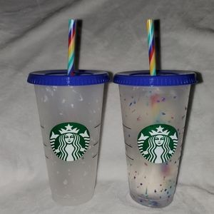 Starbucks Color Changing Confetti Cold Cup NEW